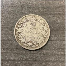 1906 25 Cents - Edward VII