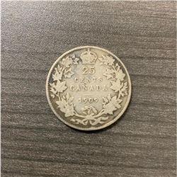 1909 25 Cents - Edward VII