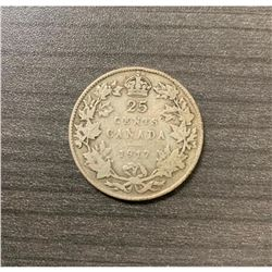 1917 25 Cents - George V