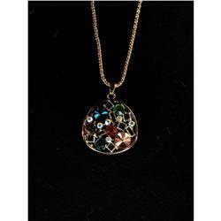 Designer gold/rhinestone necklace 12cnt