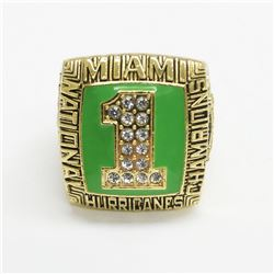 1989 Miami Hurricanes NCAA Football National Championship Ring - Stephan McGuire