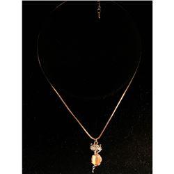 Contemporary Designer Rhinestone fox necklace