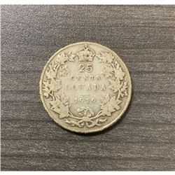 1919 25 Cents - George V