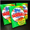 Image 2 : 3 Vintage Topps 1984 Unopened Baseball Card Packs