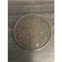 1896 Canadian Del Gratia One Cent Coin