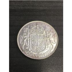 1950 MS-63 George V 50 Cent Canadian Coin