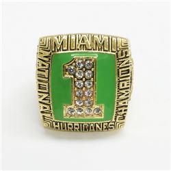 1989 Miami Hurricanes NCAA Football National Championship Ring - Stephan McGuire