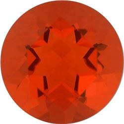 Rich Round Cut Natural Orange Red Mexican Fire Opal - Fine AAA Grade - Mexico Mined