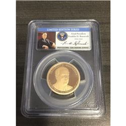 2014-S $1 Franklin D. Roosevelt, PR70DCAM PCGS Graded Limited Edition Coin