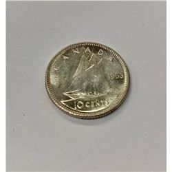 1953 Canadian 10 Cent Coin