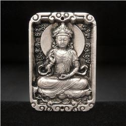Tibetan Silver Resting Buddha Bullion