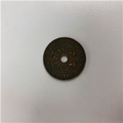 1954 Victoria II Southern Rhodesia Half Penny