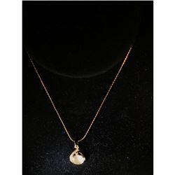 Elegant Opal Rhinestone Necklace