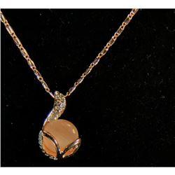 Elegant, Contemporary Opal Rhinestone Necklace