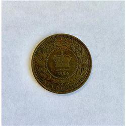1864 Victoria New Brunswick Cent