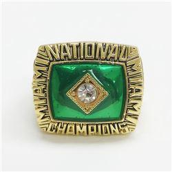 1987 Miami Hurricanes NCAA Football National Championship Ring - Jerome Brown