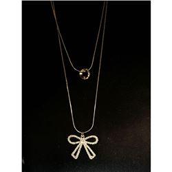 Contemporary Designer Rhinestone Necklace