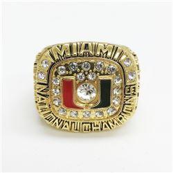 1991 Miami Hurricanes NCAA Football National Championship Ring - Dennis Erickson