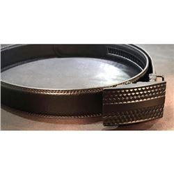 Black designer, genuine leather beltÂ