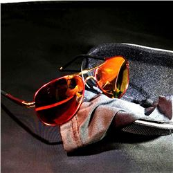 Super Cool Polarized UV 00 Sunglasses in Red Frame w/Red Lens' Â