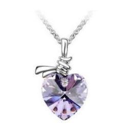 Austrian Crystal with Swarovski Elements - Heart shaped gem-Violet