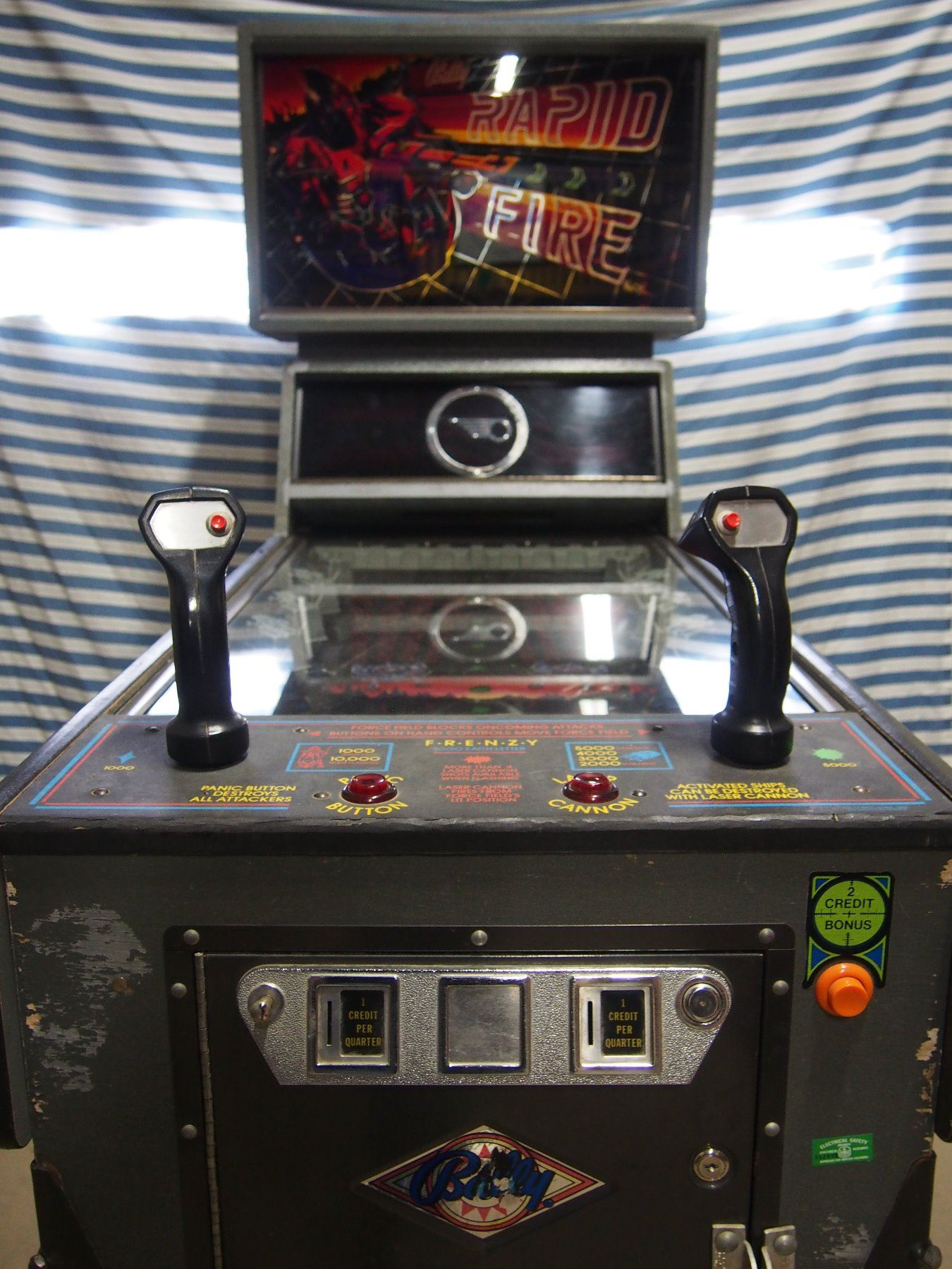 1982 Bally Rapid Fire Pinball Machine - A True Piece of ...