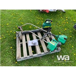 (2) WEEDEATER STRING TRIMMERS & LEAF BLOWER