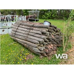 BUNDLE OF TREATED FENCE POSTS & WIRE