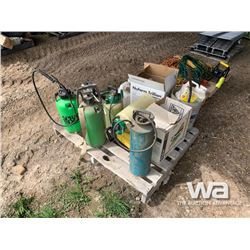 PALLET WITH HAND SPRAYERS & CHEMICAL