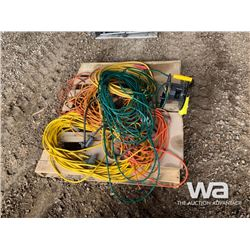 PALLET WITH ELECTRICAL CORDS & REEL