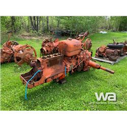 CASE TRACTOR ENGINE, TRANS, REAR END