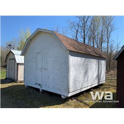 WHITE 12 X 16 FT. GARDEN SHED