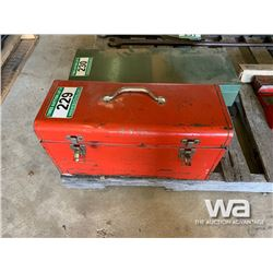 RED TOOL BOX & TOOLS