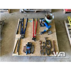 CHAIN PLIERS, C-CLAMPS, BARS, BOLT CUTTERS