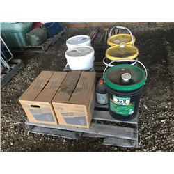 PALLET OF ENGINE & GEAR OIL
