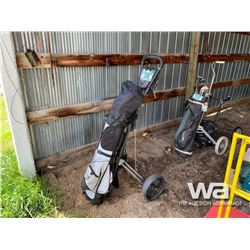 GOLF CLUBS WITH PULL CART