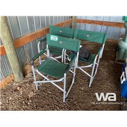 (3) GREEN CAMPING CHAIRS