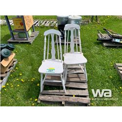 (2) WHITE WOOD CHAIRS