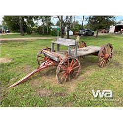RED ANTIQUE WOOD WAGON