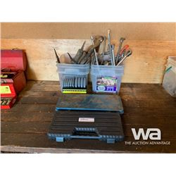 HEX KEY SET, (2) SOCKET SETS, DRILL BITS