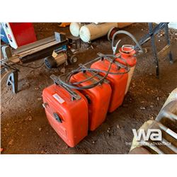 (3) FUEL TOTE TANKS & SPRAYER WITH PUMP