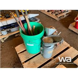VISE, OIL FUNNELS, HAND TOOLS