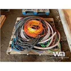 PALLET OF EXTENSION CORDS & HOSES