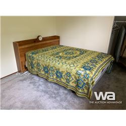DOUBLE BED WITH HEAD BOARD & CLOCK