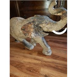 Hand Carved African Elephant, African Ironwood