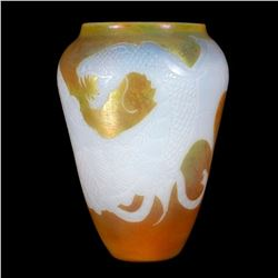 Lundberg Glass dragon vase.