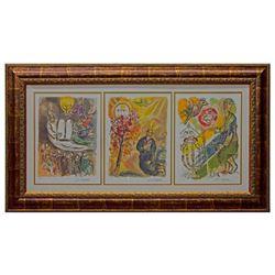 Framed Chagall (1887-1985) facsimiles.