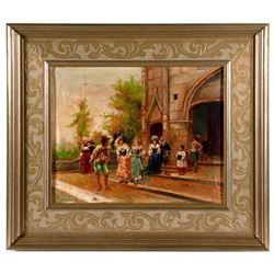 19th century courting scene.