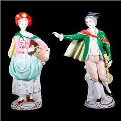 Pair of Continental Porcelain Figures.
