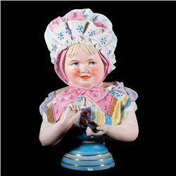 A continental porcelain child.